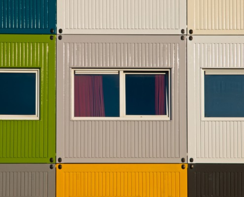 Apartments in cargo containers